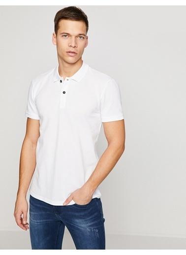 Koton Polo Yaka Tişört Beyaz